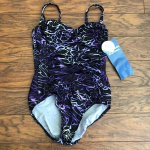 Body Sculptor Slimming One-Piece Bathing Suit-NWT